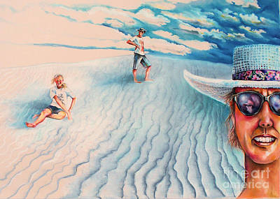 Painting - White Sands Family by Linda Shackelford