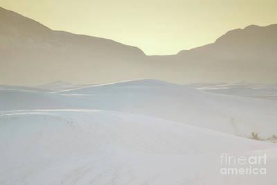 Photograph - White Sands Golden Sunset Desert Landscape by Andrea Hazel Ihlefeld