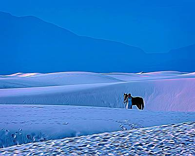 Painting - White Sands Horse And Rider #5a by Walter Herrit