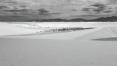 Photograph - White Sands In Black And White by Kent Nancollas