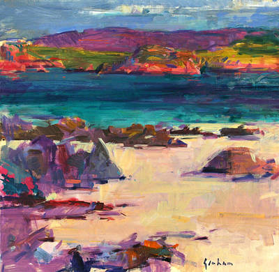 Sandy Cove Painting - White Sands   Iona by Peter Graham