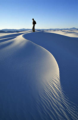 White Sands National Monument, Nm Usa Print by Dawn Kish