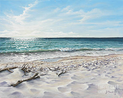 Tiger Painting - White Sands Of Tiger Tail by Joe Mandrick