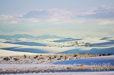 Photograph - White Sands Pastel Sunset Landscape by Andrea Hazel Ihlefeld
