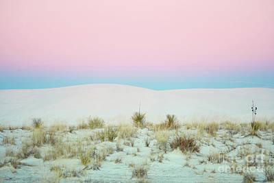 Photograph - White Sands Pink Sunset Landscape by Andrea Hazel Ihlefeld
