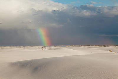Photograph - White Sands Rainbow by Alan Vance Ley