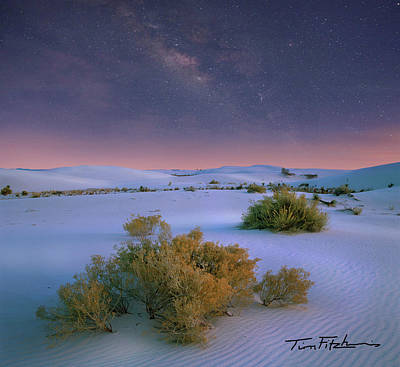White Sands Starry Night Art Print by Tim Fitzharris
