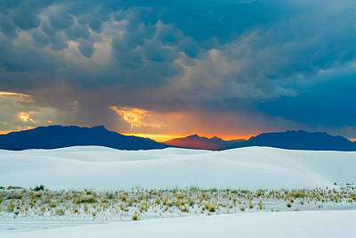 Photograph - White Sands Sunset by Amadeus Leitner