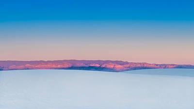 Reflected Light Photograph - White Sands Sunset by Joseph Smith