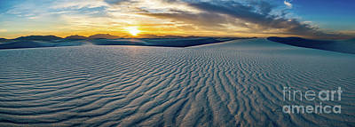 Photograph - White Sands Sunset Panorama by Jamie Pham
