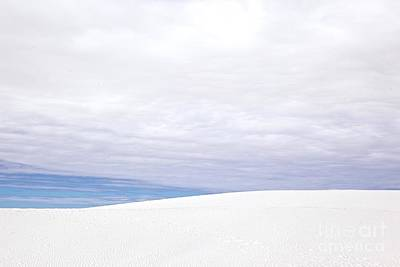 Photograph - White Sands White Clouds by Glennis Siverson