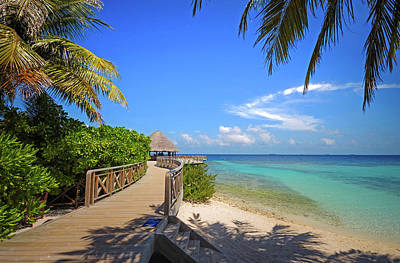 Photograph - White Sandy Beach At Maldivian Island by Jenny Rainbow
