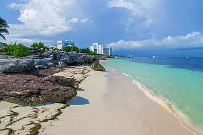 White Sandy Beach Of Cancun Art Print