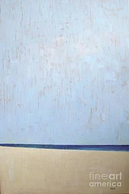 Wall Art - Painting - White Sandy Beach by Vesna Antic