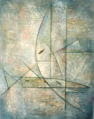 Racei Painting - White Sea. 1995 by Yuri Yudaev-Racei