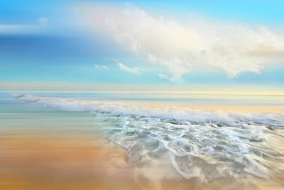 Photograph - White Seafoam Dreamscape Waves by Debra and Dave Vanderlaan