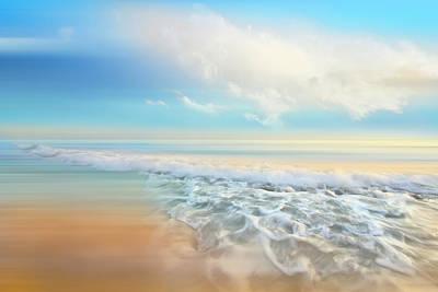 Photograph - White Seafoam Dreamscape Waves by Debra and Dave Vanderlaan