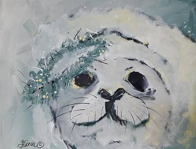 Painting - White Seal by Terri Einer