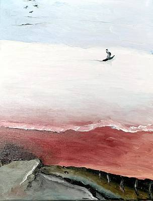 Isolate Painting - White Seas by Jacabo Navarro