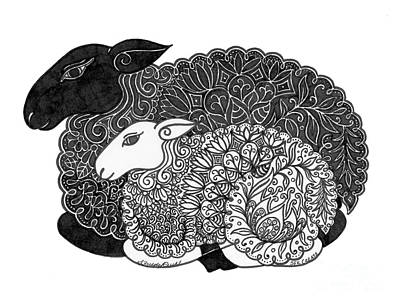 Painting - White Sheep, Black Sheep, Have You Any Wool? by Susanna Fields-Kuehl