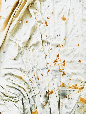 Dirty Linen Photograph - White Sheet by Tom Gowanlock