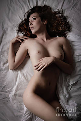 Provocative Photograph - White Sheets by Jt PhotoDesign
