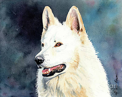 Painting - White Shepard by LeAnne Sowa