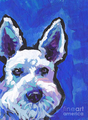 Miniature Schnauzer Painting - White Shnauz by Lea S