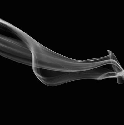Magic Photograph - White Smoke Abstract by Art Spectrum
