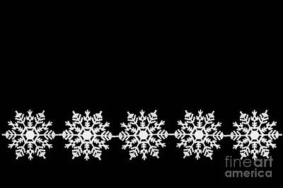 Photograph - White Snowflake Ornaments by Diane Macdonald