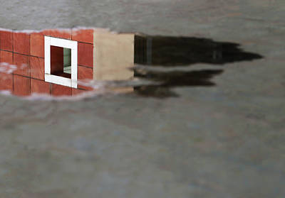 Photograph - White Square Water Reflection by Prakash Ghai