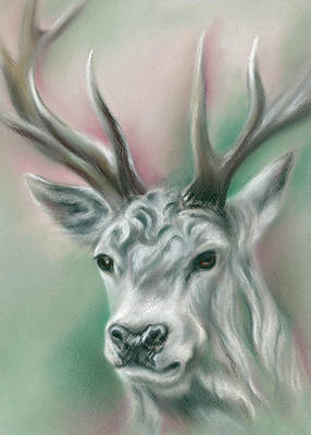 Pastel - White Stag by MM Anderson