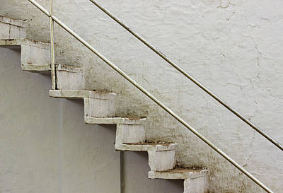 Photograph - White Staircase by Prakash Ghai