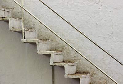 Photograph - White Staircase by Prakash Ghai