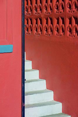 White Staircase Venice Beach California Art Print