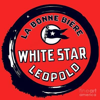 Beer Drawings Royalty Free Images - White Star Belgian Beer Royalty-Free Image by Aapshop