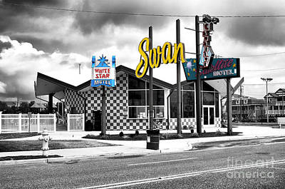 Photograph - White Star Motel Fusion by John Rizzuto