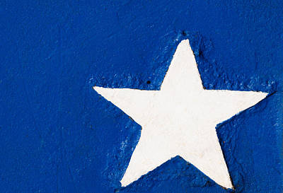 Photograph - White Star On Blue by Tikvah's Hope