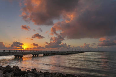 Photograph - White Street Pier Sunrise by Scott Meyer