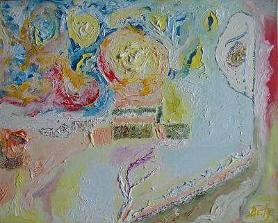 Painting - White Sun by Bennu Bennu