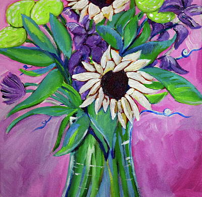 Flower Painting - White Sunflower by Anne Seay