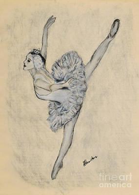 Drawing - White Swan by Olga Hamilton