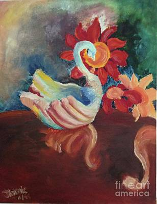 Painting - White Swan By Jennie Galante D..... by P Galante