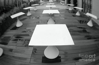 Photograph - White Tables by John S