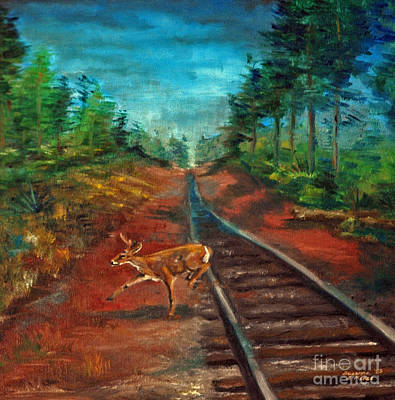 Painting - White Tail Deer In Southern Woods by Suzanne McKee