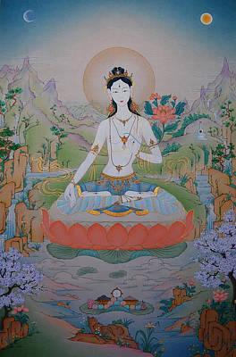 Vajrayana Painting - White Tara by Binod Art School