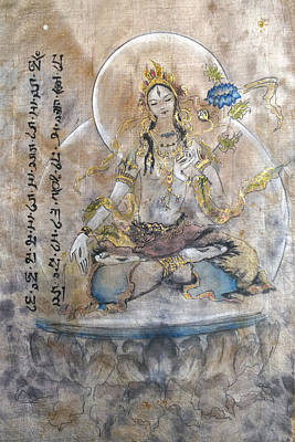 Conscious Painting - White Tara  by Silk Alchemy