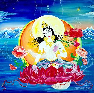 Painting - White Tara by Victoria Tara