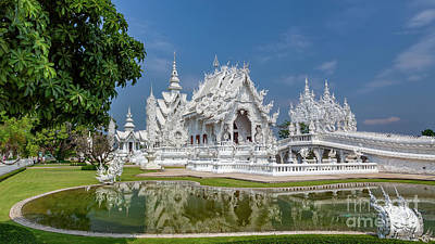 Photograph - White Temple Thailand by Adrian Evans
