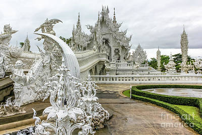 White Temple Thailand Art Print